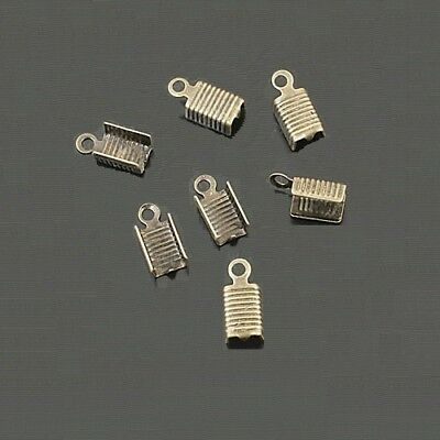 50 Embouts Cache Noeuds A Ecraser Metal Argenté 12mm x 5mm Creation Bijoux