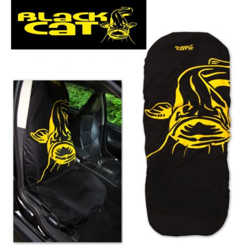 Black Cat Seat Saver - Carp Fishing Car Seat Cover - Great Gift - 1st Class Post