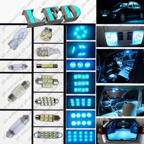 9pcs LED ICE Blue Light Interior Package Kit for Nissan Versa 2012-2016