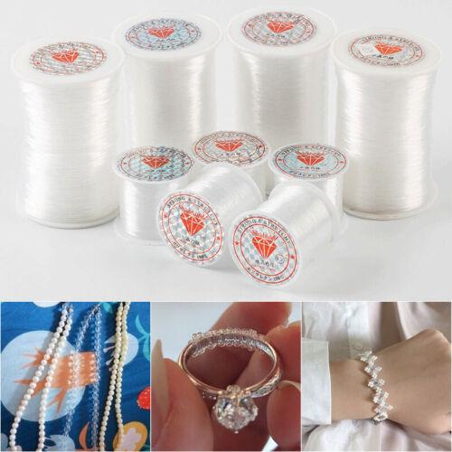 1 Roll Bracelet Necklace Making Thread Beading String Transparent Inelastic