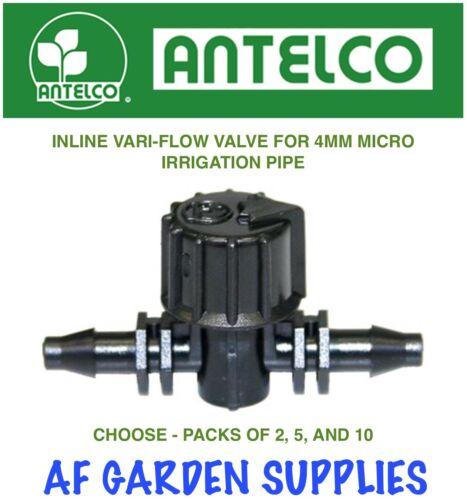 Inline Vari-Flow Valve//Tap 4mm Micro Garden Irrigation//Watering Barbed