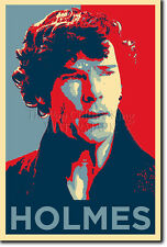 BENEDICT CUMBERBATCH ART PHOTO PRINT 7 POSTER GIFT (OBAMA HOPE PARODY) SHERLOCK