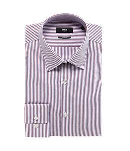 HUGO-BOSS-MARLOW-US-BLACK-LABEL-DRESS-SHIRT-SHARP-FIT-RED-WHITE-BLUE-STRIPED-NWT