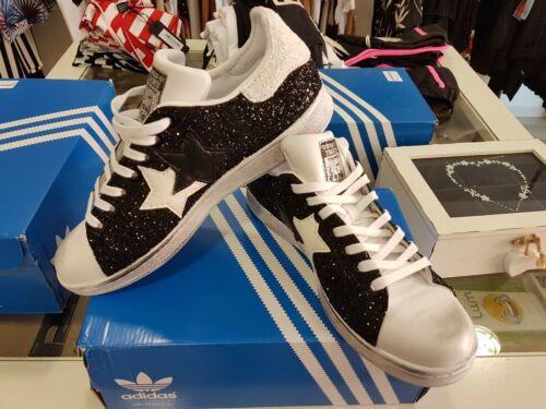 Details zu Schuhe Adidas Stan Smith mit Glitzer Grau Ai