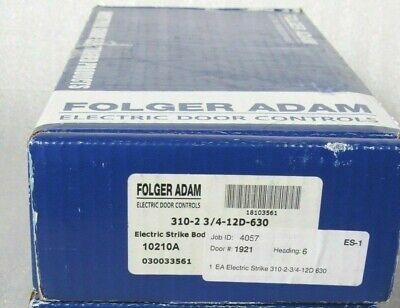 Folger Adam 310-1 3//4 Keeper Fail Secure 24 Volts DC 630 Finish NFS