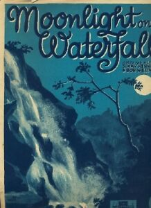 """clair De Lune Sur La Cascade"" Par Jimmy Kennedy & Hugh Williams-afficher Le Titre D'origine"