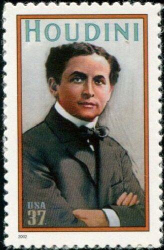 2002 37c Harry Houdini, Magician Scott 3651 Mint F/VF N