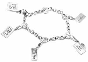 Details About Rare Authentic Bvlgari Bulgari 18k White Gold Charm With 5 Charms Bracelet