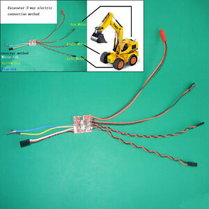 2S-3-Channel-Brushed-ESC-Dual-Mode-Speed-Controller-For-35-1-RC-Excavator-Tank