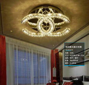 Details about New Warm bedroom crystal ceiling lamps Creative personality  LED chandeliers #70