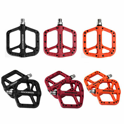 Mountain Bike Bicycle RockBros Bearing Pedals Cycling Wide Nylon Pedals a PairT