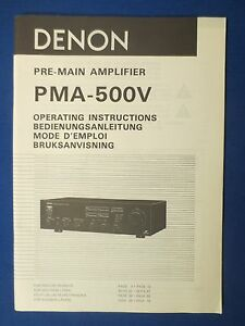 DENON-PMA-550V-OWNER-MANUAL-ORIGINAL-FACTORY-ISSUE-THE-REAL-THING
