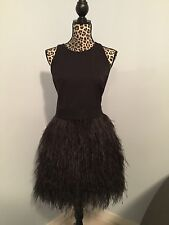 MILLY WOMENS LBD FEATHER COCKTAIL DRESS SIZE 10/12 NWT