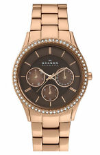 ** nuevo ** SKAGEN Señoras Reloj de cristal fregona oro rosa 347LRXR1 - - RRP £ 179