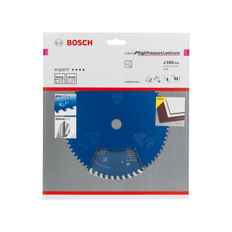 Bosch HM-Sägeblatt 160x2,2x20 Z48 2608644132 Expert for High Pressure Laminate