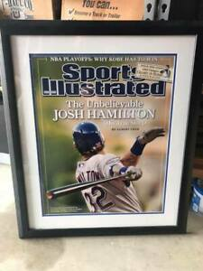 Josh-Hamilton-Signed-amp-Authenticated-Sports-Illustrated-Texas-Rangers-Framed