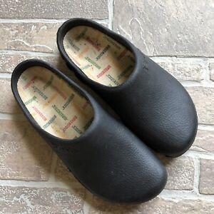 Details zu Birki's Birkenstock Black Rubber Clogs Mules Slip On 5 38