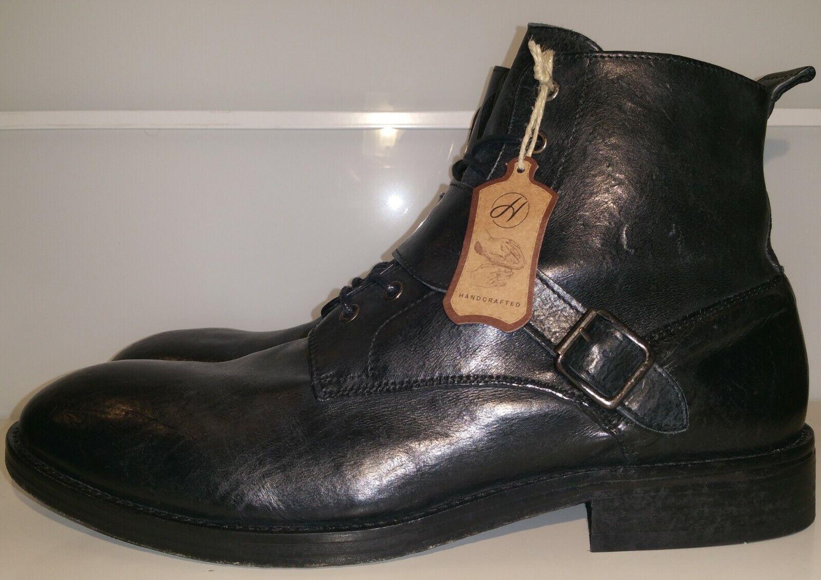 nuevo  h by Hudson London  45   botas botines botas   Zapatos Cuero   negro  Biker