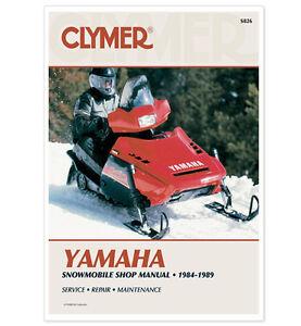 yamaha snowmobile service manuals
