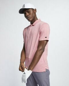 20c72f43 Nike Dri-FIT TW Vapor Men's Striped Golf Polo. Gym Red. Large BQ6722 ...