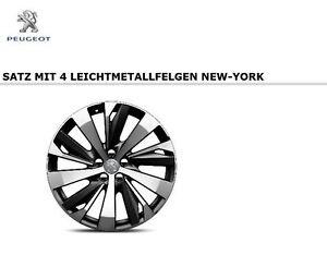 original peugeot 3008 5008 suv satz 19 zoll leichtmetallfelgen quot new york quot ebay