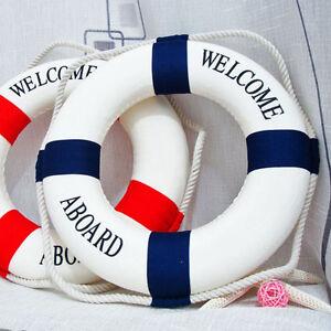 Wall-Hangging-Mediterranean-Nautical-Decor-Boat-Ring-Life-Buoy-Preserver-V3N9