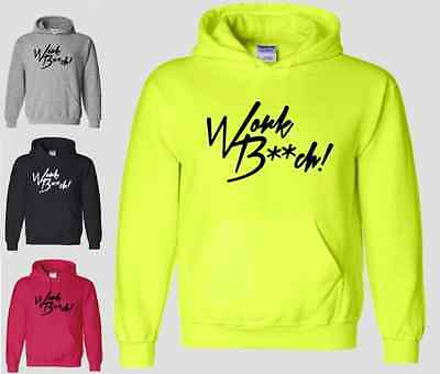 Work Bitch Hoodie Pop Britney Spears Funny Sexy Music Brittany Sweatshirt NEON