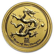 2012 1/20 oz Gold Australian Lunar Year of the Dragon Coin - SKU #63861