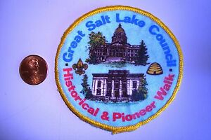 OA-GREAT-SALT-LAKE-COUNCIL-SCOUT-FLAP-HISTORICAL-PIONEER-WALK-CLOTH-POCKET-PATCH
