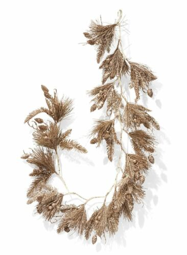 5ft Decorative Silver Mixed Pine Garland With Pine Cones Berries Holiday Décor