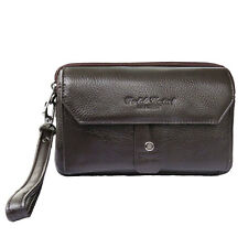 Men Genuine Leather Business Clutch Bag Handbag Wallet Purse Mobile Phone Bag