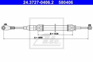 freno di stazionamento per il sistema di frenatura assale anteriore ATE 24.3727-0406.2 ARGANO