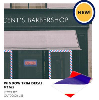 "Window Barber Stripe Trim decal 6"" x 90"" AYVT165"