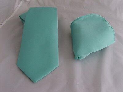 """Matt Mint Green Skinny Polyester Men Necktie-Tie-2.5/""""=6cm Width/>P/&P2UK/>1st Class"""