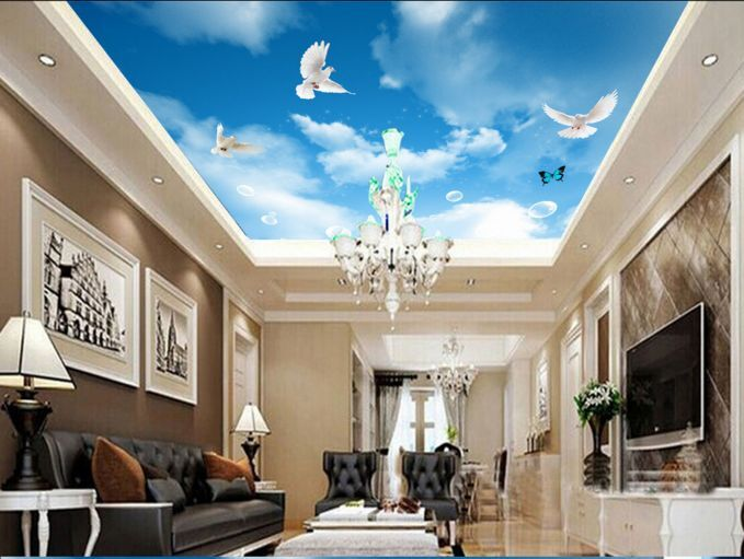 3D Butterfly Dove Ceiling WallPaper Murals Wall Print Decal Deco AJ WALLPAPER GB