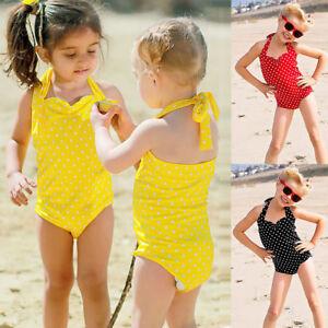 Toddler-Kids-Baby-Girls-Dots-Swimwear-Bathing-Bikini-Brief-Set-Outfits-Swimsuit