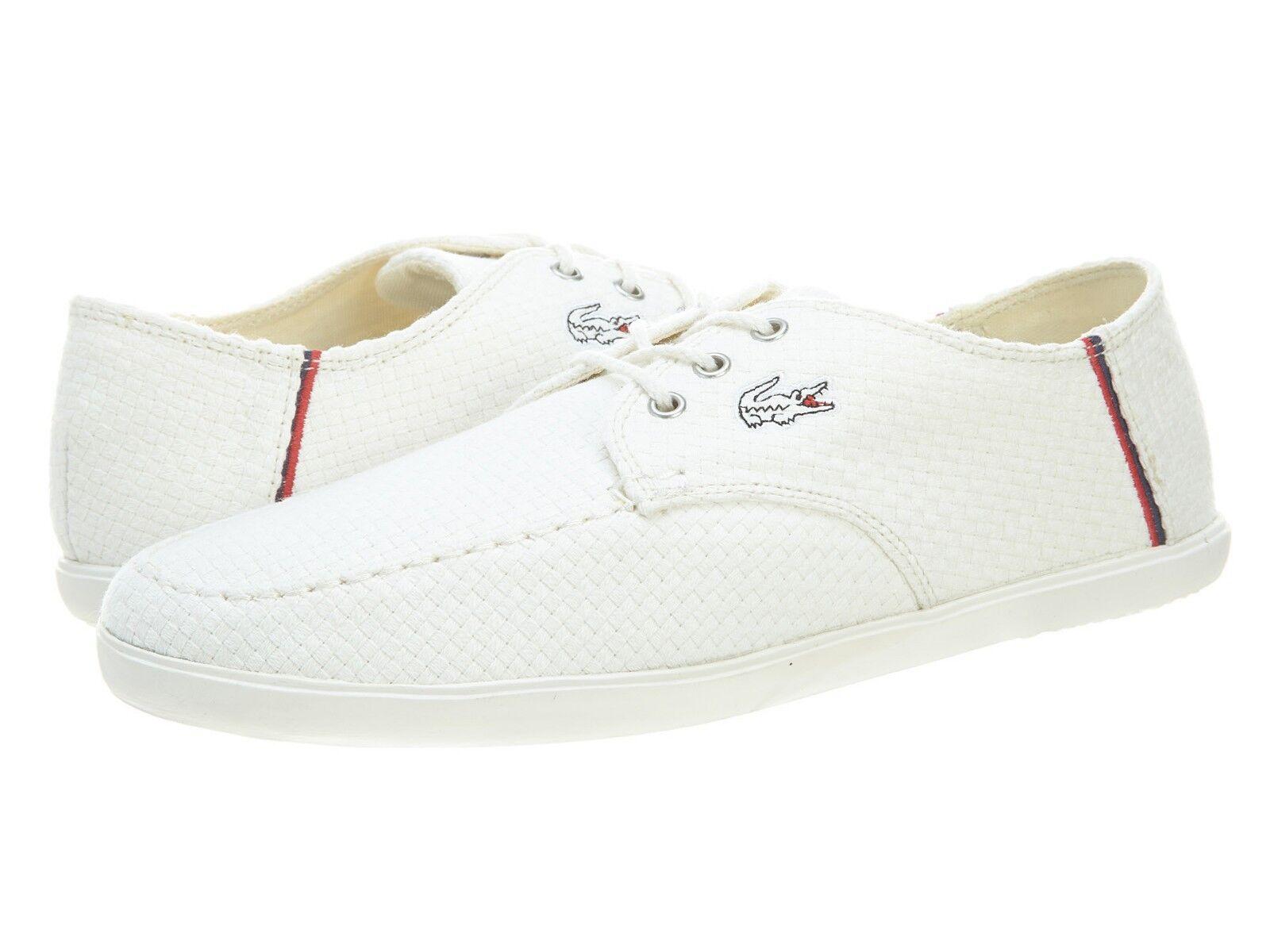 Scarpe casual da uomo Lacoste Aristide 13 SRM CNV # 7-27SRM2304098 Off White Canvas Sneaker uomo SZ 12