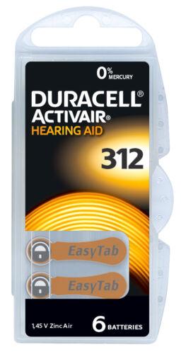 Duracell Hörgerätebatterien Air-Zinc Hörgerät Batterie Typ 10 13 312 675