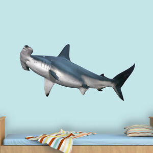 Image Is Loading Hammerhead Shark Decal Kids Room Decor Realistic Shark