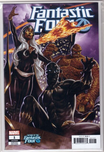 FANTASTIC FOUR 1 Mark Brooks Black Panther Incentive VARIANT Cover DC Comics NM+