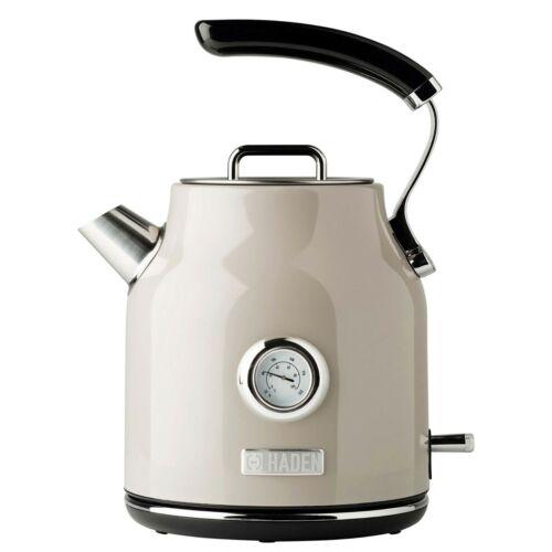 Haden Dorset 1.7 Liter Stainless Steel Electric Tea Kettle Putty Beige 75002