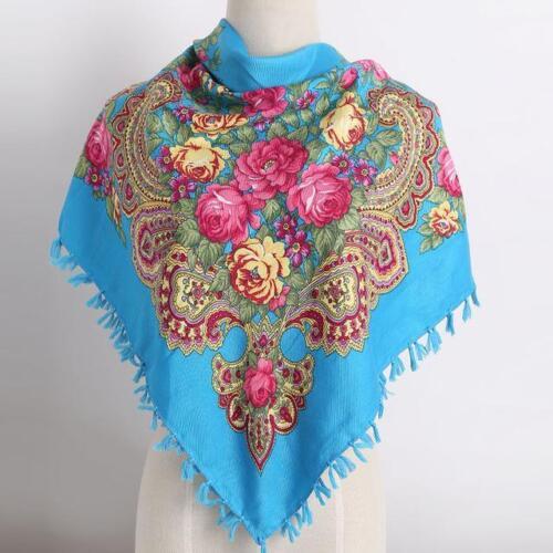 Handmade Russian Tassel Flower Design Scarf 10 Different Color Options