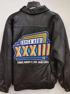 fe9f663b4 NFL Denver Broncos Super Bowl XXXIII Champions Leather Jacket (Large ...