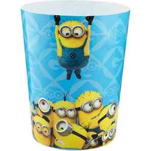 Kids Universal Despicable Me Minions Wastebasket Trash Can Bin ...
