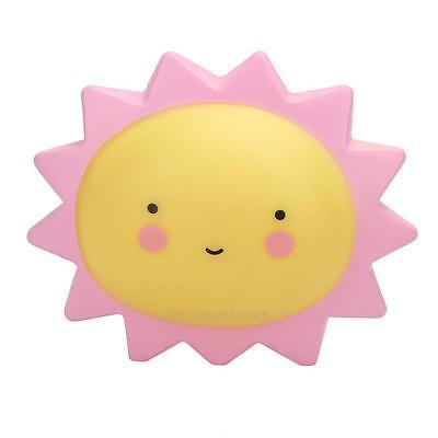 Portable Cute Sun/Moon Kids Baby Children LED Night Light Nightlight Lamp Decor