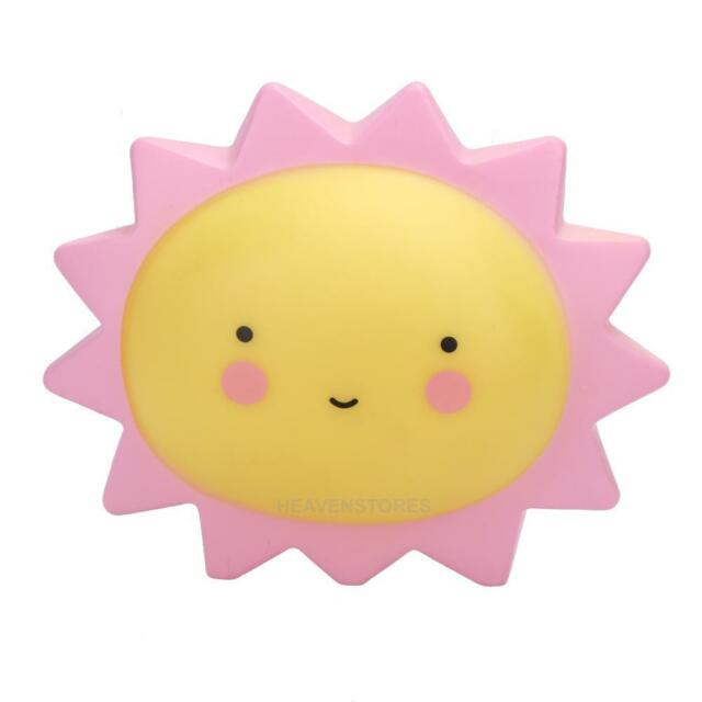 Portable Cute Sun/Moon Kids Baby Children LED Night Light Nightlight Lamp Decor