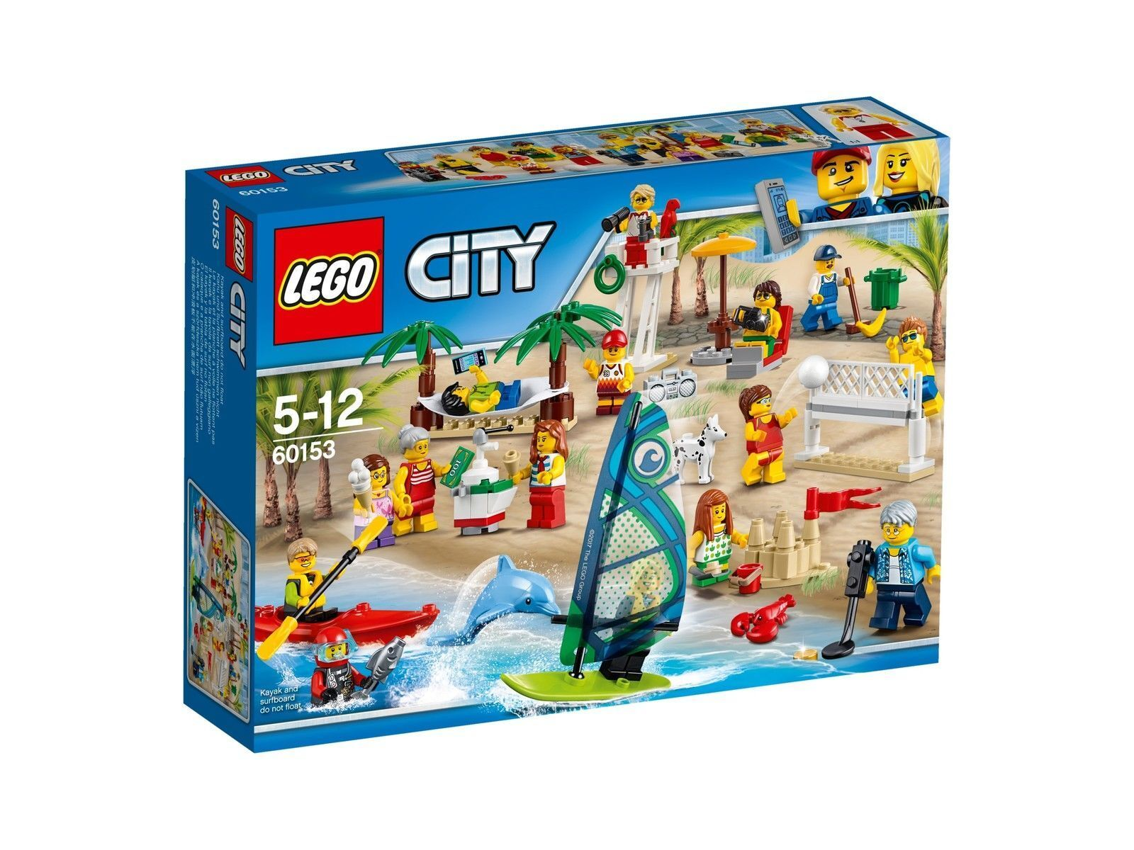 LEGO City Stadtbewohner – Ein Tag am Strand 60153, NEU