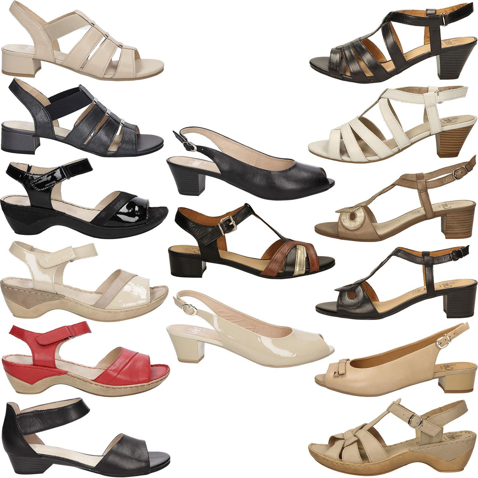 Damen Sandale Caprice Echtleder Blockabsatz Komfortable Sommer Gr.36-42 NEU