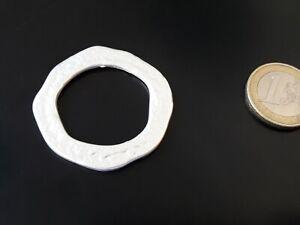 1 A 20 Entrepieza Zamak Hochwertig Kreis Silberne (aro-16) Anhänger Ringe