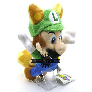SUPER MARIO BROS. LUIGI FLYING FOX PELUCHE volpe volante new plush ds mansion 2